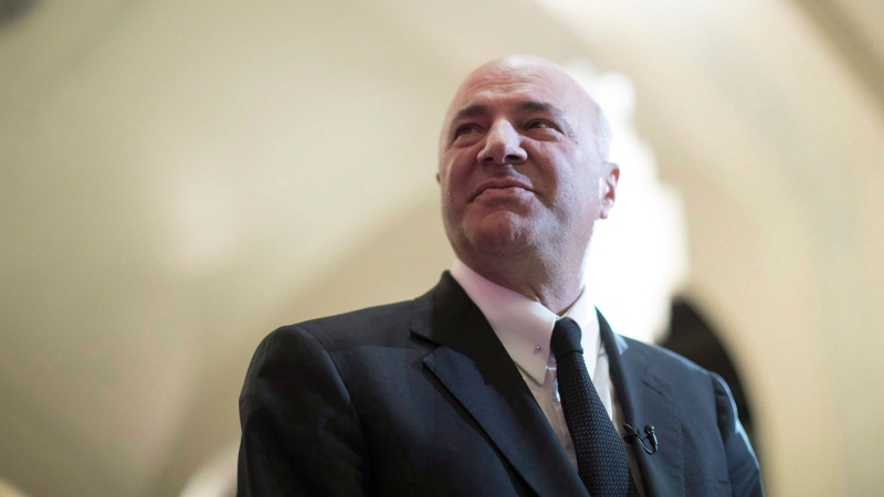 Federal conservative leadership candidate Kevin O'Leary prepares to speak at the Empire Club luncheon in Toronto, on Friday April 7, 2017.THE CANADIAN PRESS/Chris Young