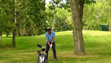 Comedian Will Arnett, in town for the Shaw Classic pro-am.