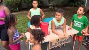 Police called on children selling lemonade