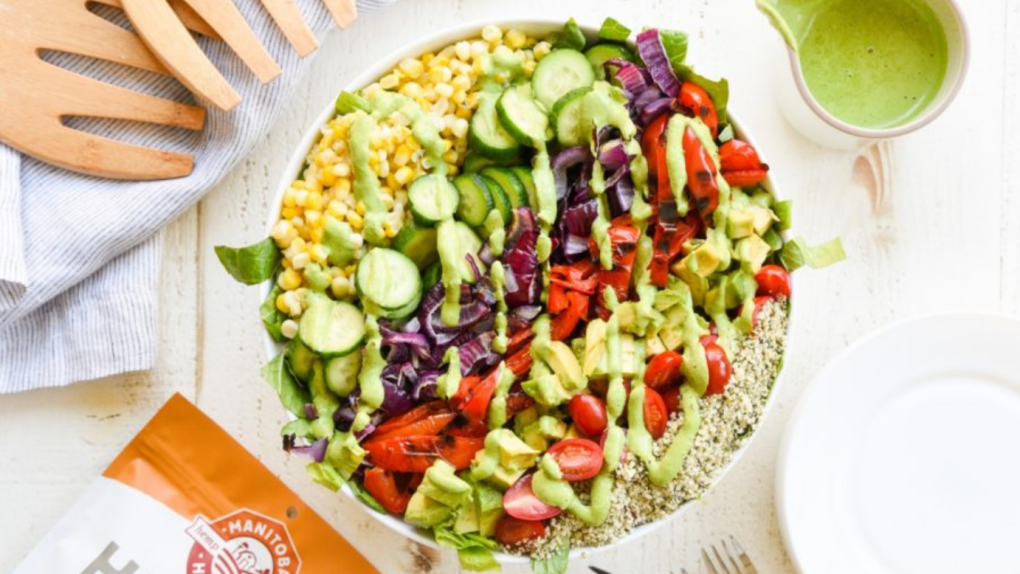 Grilled Vegetable Salad with Vegan Hemp Pesto Dres