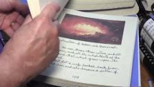 A handwritten Bible