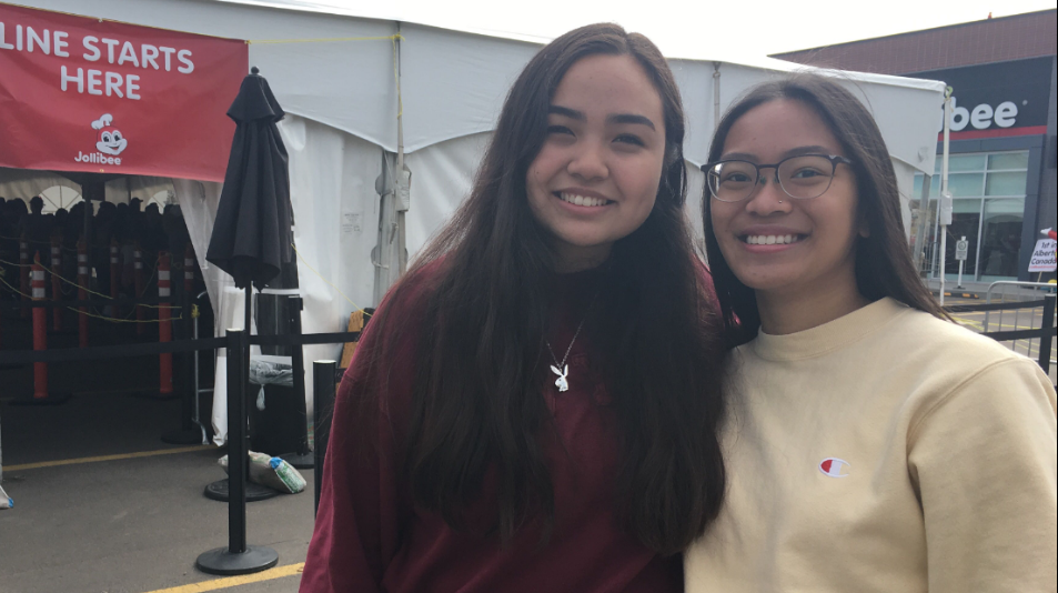 A pair of teens is offering to save you the long lines at Jollibee if you're willing to pay them $15 an hour to do it