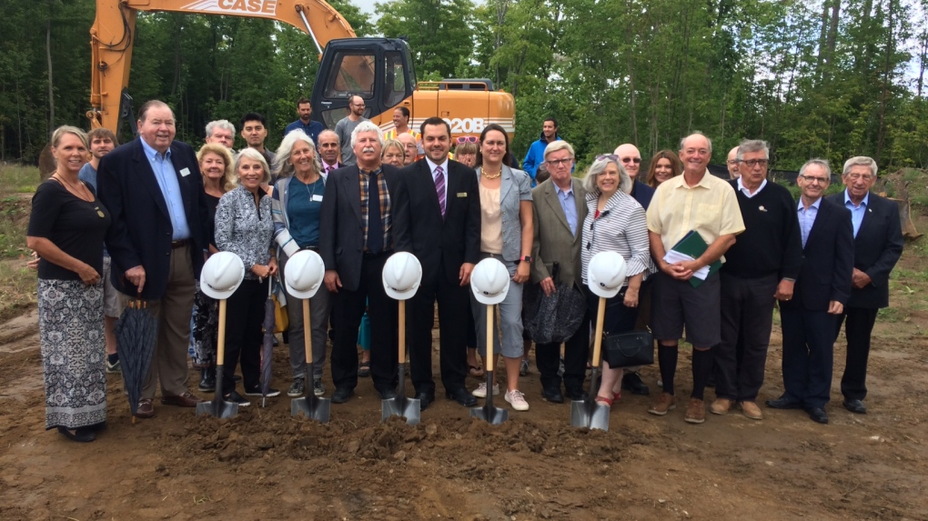 Groundbreaking at site of new Severn Township hospice