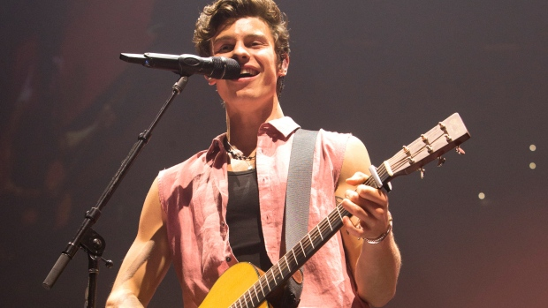 Shawn Mendes performs in concert at The Wells Fargo Center on Wednesday, Aug. 28, 2019, in Philadelphia. (Photo by Owen Sweeney/Invision/AP)