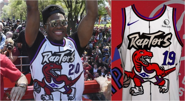Raptors going full throwback, bringing back old-school dinosaur jerseys