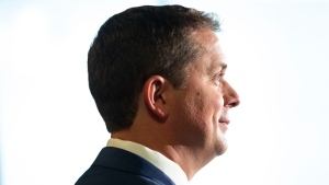 Federal Conservative Leader Andrew Scheer attends a news conference in Toronto, on Thursday, August 29, 2019. (THE CANADIAN PRESS/Chris Young)