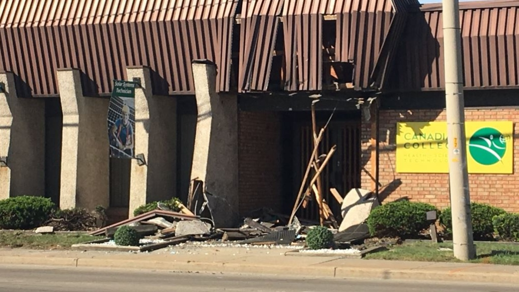 Walker Road crash scene
