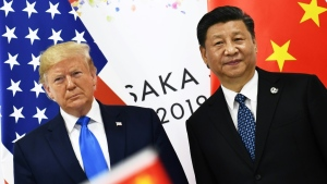 China's leadership under President Xi Jinping, seen here with U.S. President Trump during the G20 summit in Japan in June, has shown little sign of giving in to U.S. trade pressure.