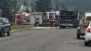 No one injured after RV bursts in to flames in northwest