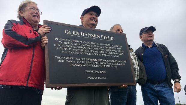 calgary, glen hansen, baseball, northeast, field.