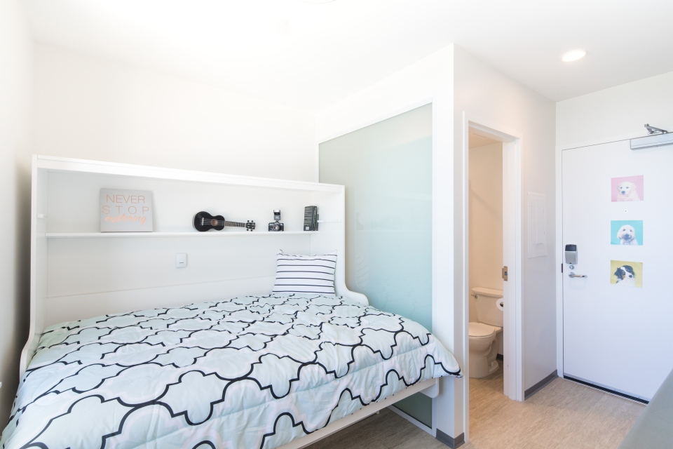 Nano suites feature a full kitchen and bathroom in just 140 square feet. (UBC)