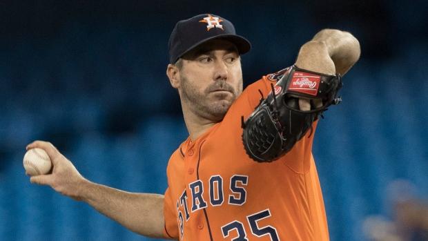 Astros ace Verlander tosses no-hitter against Blue Jays