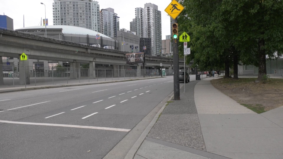 The installed two signs on Expo Boulevard at Carrall Street last fall, but they do not say the words