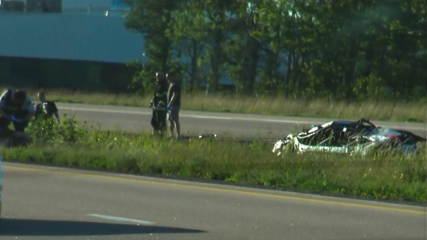 Collision on Trans Canada Highway
