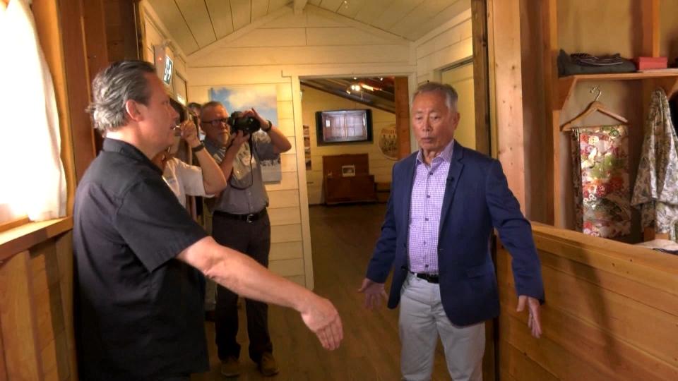 George Takei visits internment camp near hope