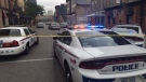 A weapons investigation is conducted at Richmond and King streets in London Ont. on Tuesday, Sept. 3. 2019. (Brent Lale / CTV London)