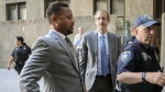 Cuba Gooding, Jr., left, arrives at court in New York to face a groping allegation charge, on Sept. 3, 2019. (Bebeto Matthews / AP)