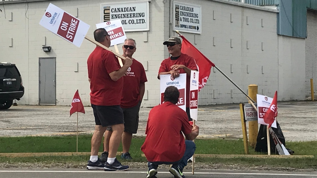 Workers on strike at Windsor tool and die company
