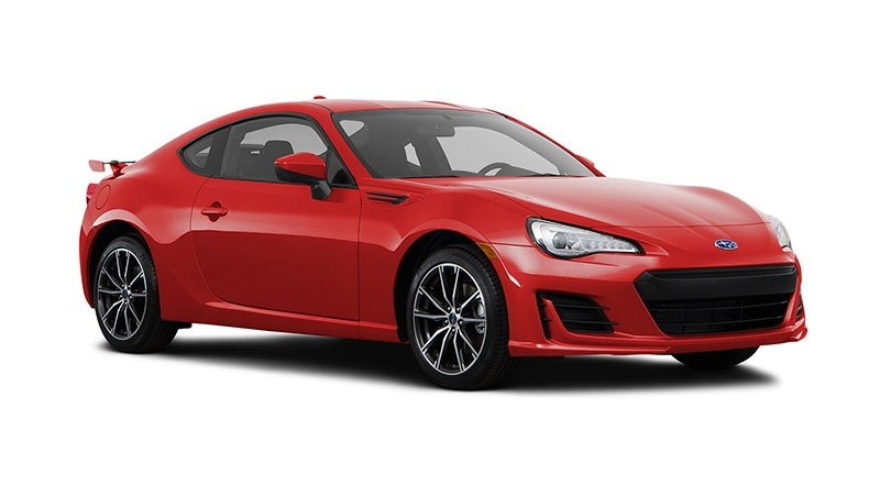 A red 2018 Subaru BRZ is shown in this manufacturer's photo. (Source: Subaru)