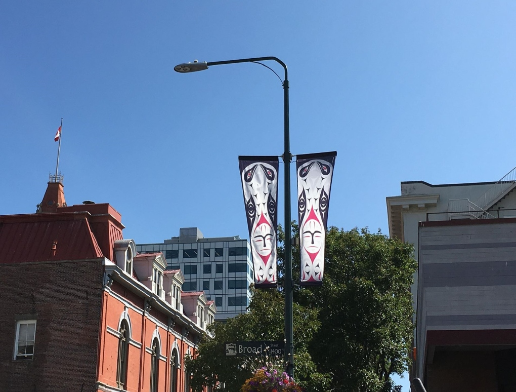 downtown lampost banners