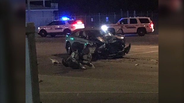 Red Deer collision