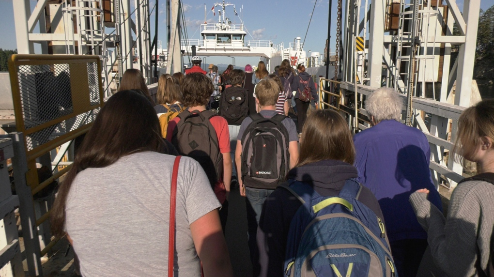 Hundreds of students commute to Vancouver Island by ferry for school