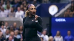In this Tuesday, Sept. 3, 2019 file photo, Serena Williams is captured during the quarterfinals of the U.S. Open tennis tournament in New York. (AP Photo/Charles Krupa)