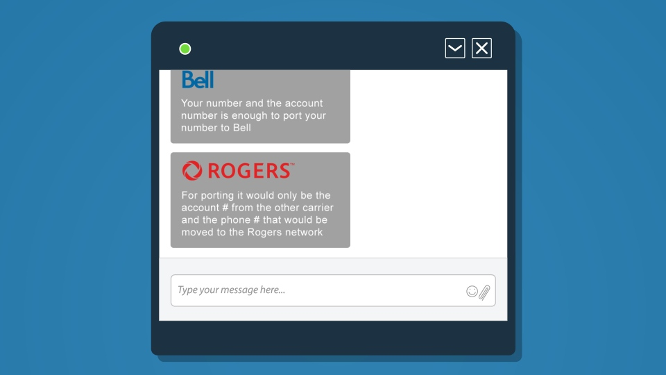 Online chats with Bell and Rogers confirmed all that is needed to move or 'port' your number to another carrier is the phone number and the account associated with the current provider.  The provider you want to switch to can handle it for you and you never have to talk to your carrier to cancel the service.