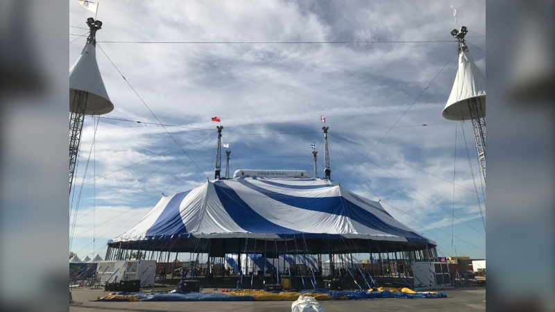 Cirque du Soleil's touring show Amaluna gets underway in Winnipeg Sept. 14. See how the crew is getting the big top tent set up. (Photos: CTV News Winnipeg)