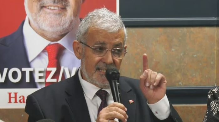 Hassan Guillet held a news conference Wednesday to clear his name.