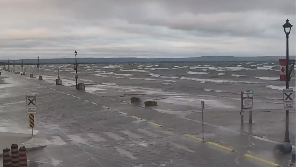 High water levels swallow up Wasaga Beach's main strip | CTV