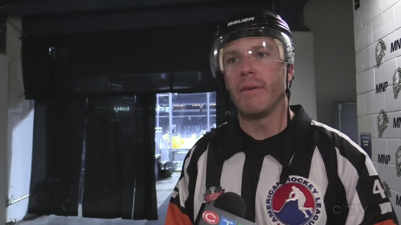 Corey Syvret got the call to officiate again for the NHL.