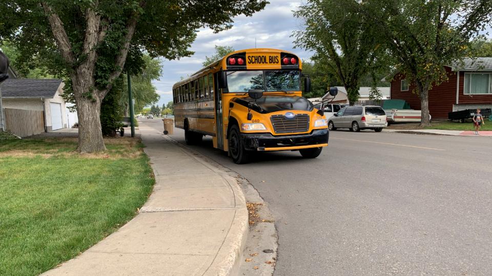A school bus is seen in Regina. (Marc Smith/CTV Regina)