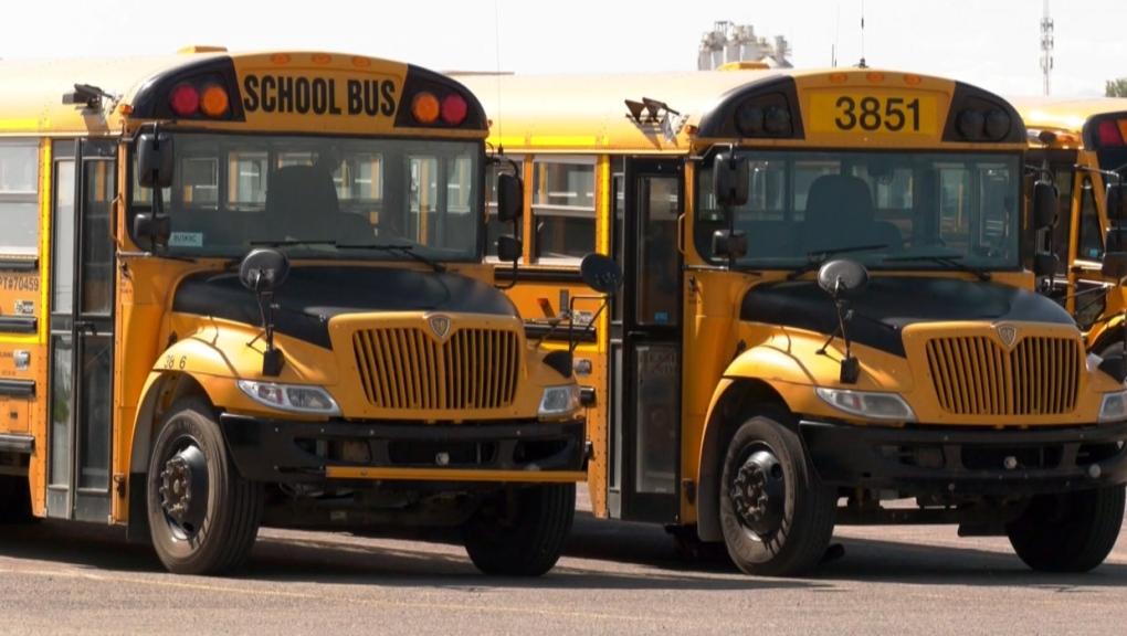 Calgary school bus gets a late slip
