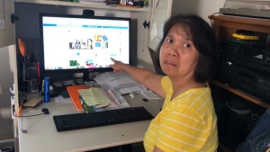 Felipa Inch got a Facebook message from her niece asking for money.