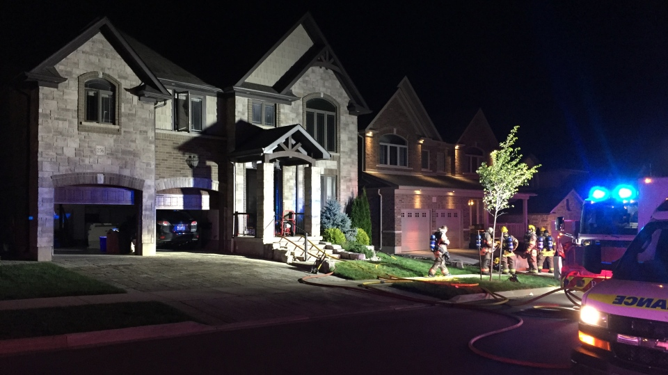 One person was inside this home in the Doon area of Kitchener when a fire broke out. (Sept. 4, 2019.)