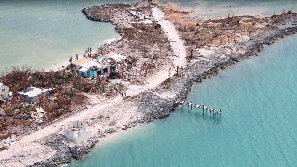 The destruction caused by Hurricane Dorian is seen from the air, in Marsh Harbor, Abaco Island, Bahamas, Wednesday, Sept. 4, 2019. (AP Photo/Gonzalo Gaudenzi)