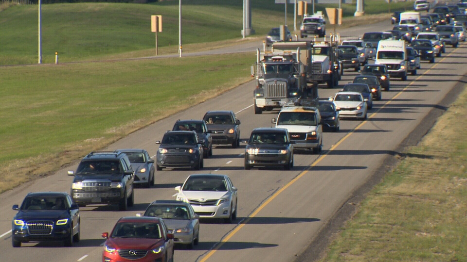 Traffic is shown on a southwest stretch of Anthony Henday Drive in Edmonton. (CTV News Edmonton)