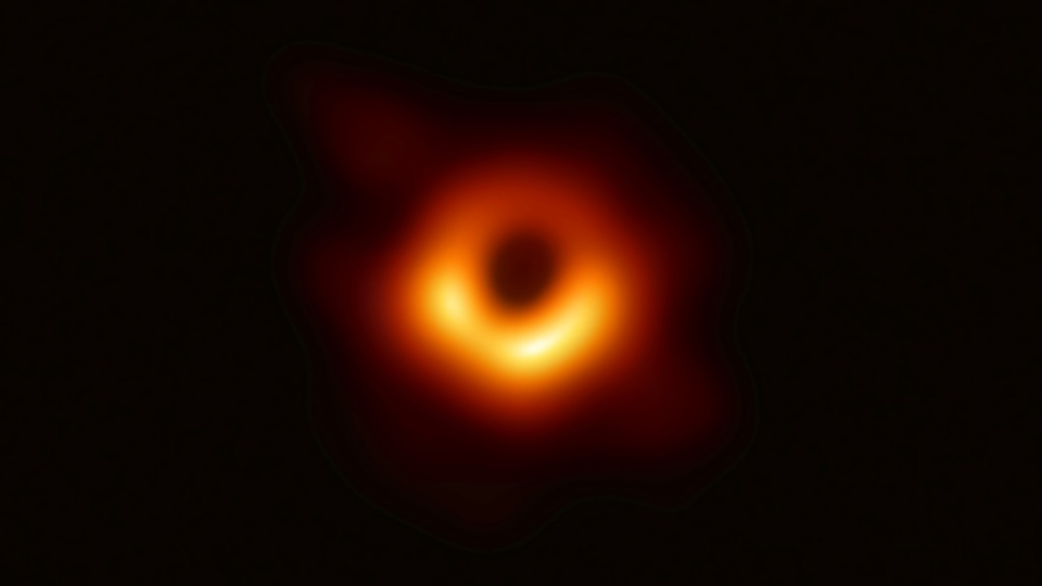 The Event Horizon Telescope Collaboration grabbed global headlines on April 10 when they published the first image of a supermassive black hole circled by a flame-orange halo of white hot plasma. (AFP)