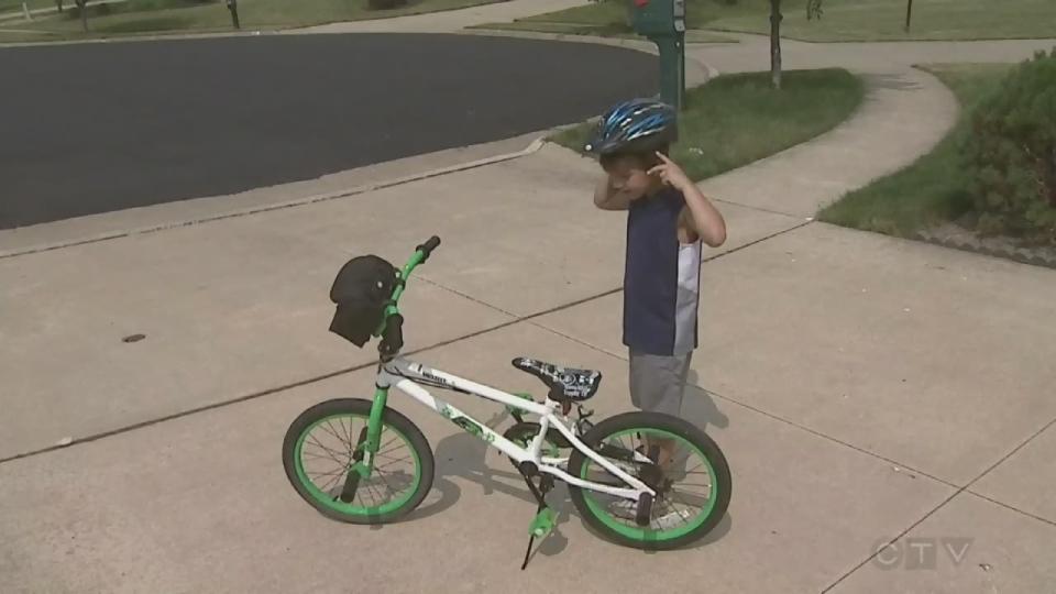 Ride a bike, wear a helmet