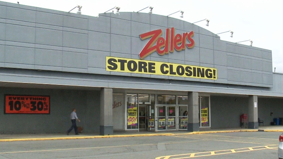 One of the two remaining Zellers locations, in Ottawa.