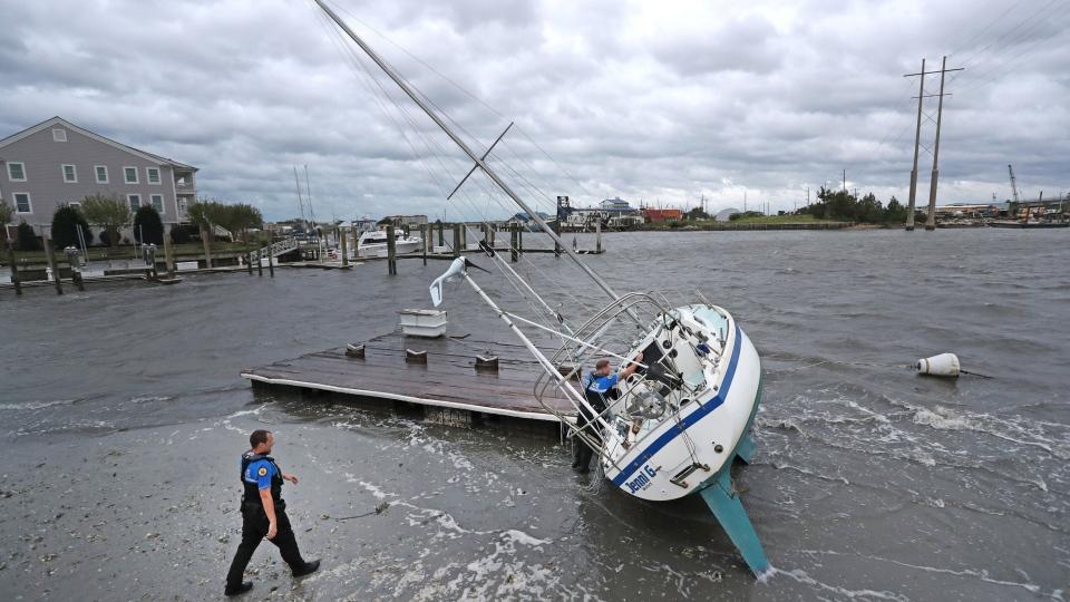 Hurricane Dorian passes the North Carolinas