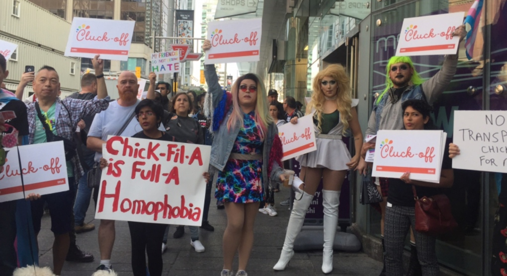 Chick-fil-A Toronto: Protesters expected to crash grand opening off first Canadian store