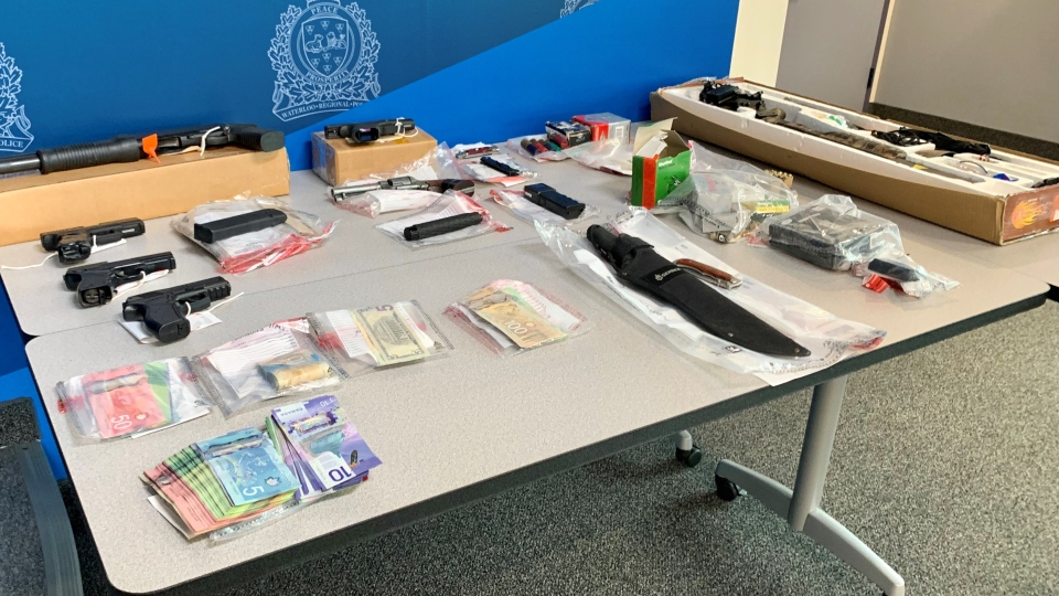 Waterloo Regional Police have arrested 30 people and seized several weapons and drugs. (Source: WRPS)