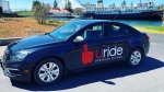 The company applied for ride-share licensing in B.C. on Tuesday and says it has already begun recruiting drivers. (Uride)