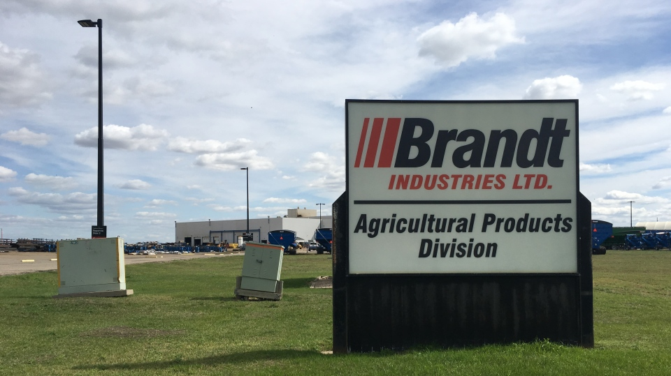 The Brandt Agricultural Products Division building is shown in this file photo. (Cole Davenport/CTV News)