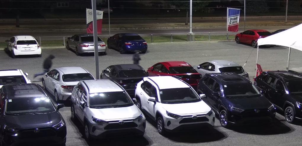 Surveillance footage from Hawkesbury Toyota.
