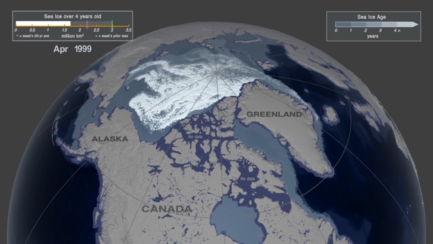 Troubling view of decades of Arctic sea ice loss