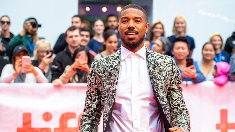 """Michael B. Jordan arrives for the Gala Premiere of the film """"Just Mercy"""" at the 2019 Toronto International Film Festival on Friday, Sept. 6, 2019. THE CANADIAN PRESS/Frank Gunn"""
