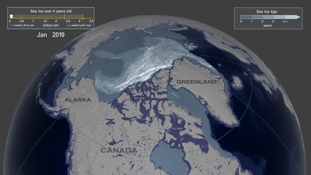 NASA visualization shows devastating decline in Arctic ice over past 35 years